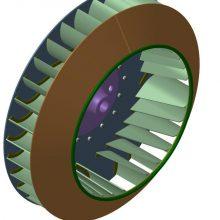 Рабочее колесо дымососа (вентилятора ВДН) ДН 13 (45000 руб.)