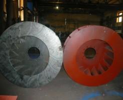 Рабочее колесо дымососа (вентилятора) ДН.ВДН, Д. ВД