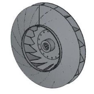 Рабочее колесо дымососа (вентилятора ВДН)  9