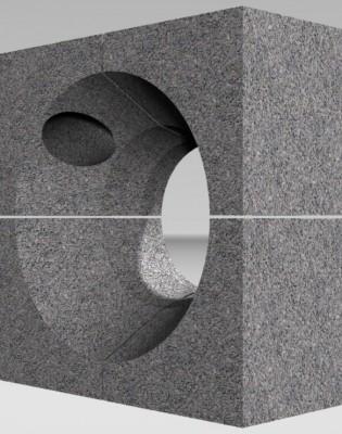 Горелочный камень для горелок ГМГ 2 (на котел ДКВР и др.) (амбразура горелки котла)