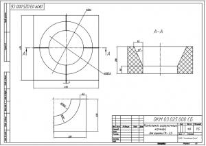 Комплект горелочных камней для горелки ГМ-2,5 чертеж
