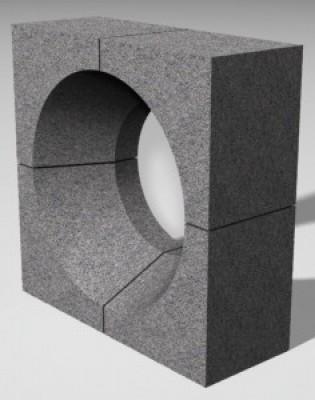 Комплект горелочных камней для горелки ГМ-4,5 (амбразура горелки котла)