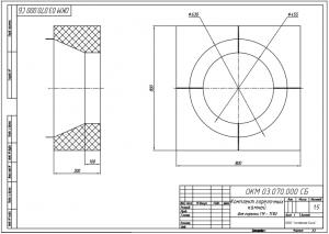 Комплект горелочных камней для горелки ГМ-7(10) чертеж
