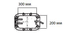 Дверка (лаз) топки ТШПМ