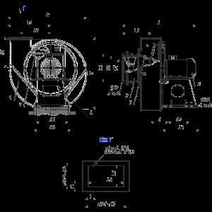 Дымосос ДН 8 (вентилятор ВДН 8) эскиз