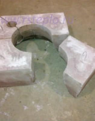 Горелочный камень для горелок ГМГ 1,5 (на котел ДКВР и др.) (амбразура горелки котла)
