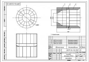 Комплект горелочных камней для горелки ГМП-16 черт