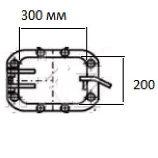 Дверка (лаз) топки ТШПМ 300/200 (8000 руб.)