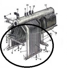 Коллектор, камера котла ДКВР 10-13