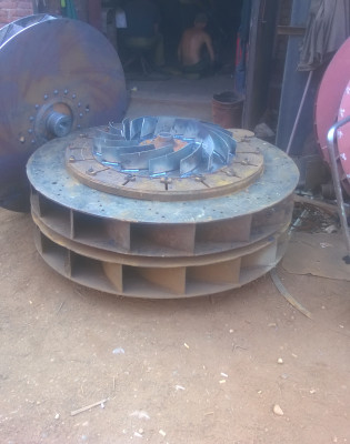 Рабочее колесо дымососа дн 10 (вентилятора вдн 10) крыльчатка