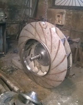 Рабочее колесо дымососа (вентилятора) ДН (ВДН) 12,5 (нержавеющая сталь)
