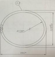 Воротник (кольцо) на овальный люк лаз
