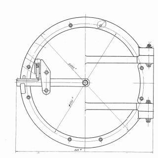 Круглый люк лаз котла (ф 540)