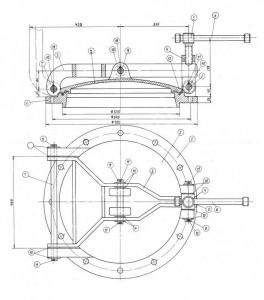 Круглый люк лаз котла (ф 500)