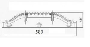 Лопатка ротора забрасывателя ЗП-600 (пмз 600) Запасные части к забрасывателю ЗП Т67.01.001 М2