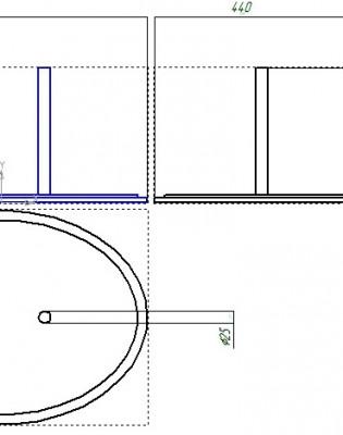 Овальный люк лаз (для сосудов и др.) 600 440мм