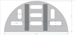 Колосник круглый двухсегментный (ф300мм)