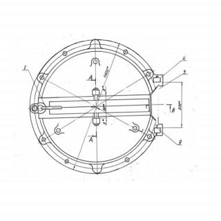 Круглый люк лаз котла (ф 450)