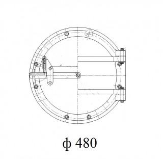 Круглый люк лаз котла (ф 480)