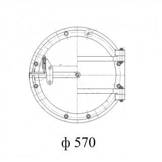 Круглый люк лаз котла (ф 570)