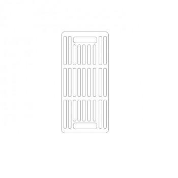 решетка гриль чугунная 430/200 мм ( для мангала и др.)