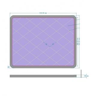 Отражатель 530/420 (экран) дверки (люка лаза) котла