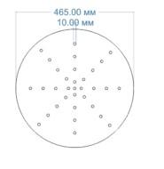 Колосник круглый односегментный (ф465мм)