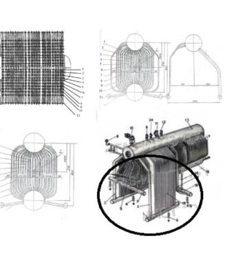 ремкомплект (запчасти) паровых котлов ДКВР 2,5