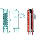 Холодильник отбора проб (охладитель проб воды) Ду 159