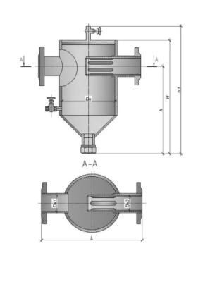 фильтр грязевик (вертикальный, абонентский, фланцевый)