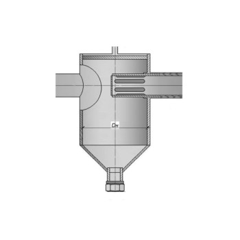 фильтр грязевик (вертикальный, абонентский) под приварку